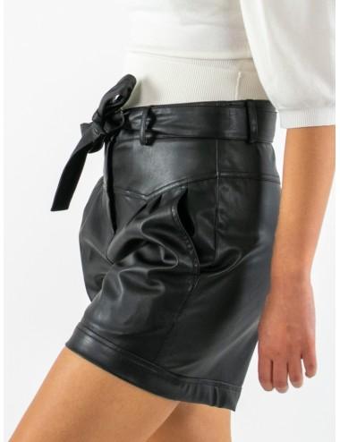 Shorts de tejido revestido